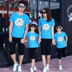 Legionshop Kaos Keluarga 2 Anak T Shirt Family 2 Kid Doramonmon Lovely Turkis Dki Jakarta Diskon 50