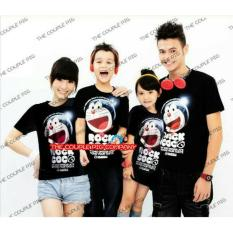 Review Legionshop Kaos Keluarga 2 Anak T Shirt Family 2 Kid Doramonmon Rock Coco Black