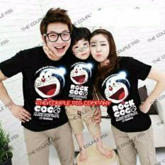 Toko Legionshop Kaos Keluarga T Shirt Family Ayah Bunda Anak Doraem Rock Coco Black Online