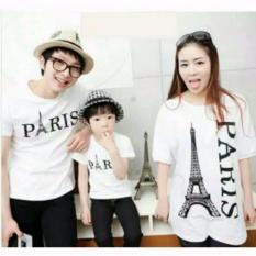 Toko Legionshop Kaos Keluarga T Shirt Family Ayah Bunda Anak Kalong Paris White Dekat Sini