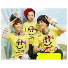 Review Legionshop Kaos Keluarga T Shirt Family Ayah Bunda Anak Smile Love Yellow Di Dki Jakarta