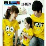Harga Legionshop Kaos Keluarga T Shirt Family Ayah Bunda Anak Spongebob Yellow Fullset Murah
