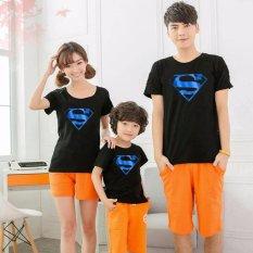 legiONshop-Kaos keluarga/T-shirt Family (Ayah+Bunda+Anak)-SUPERMAN TOSCA FOIL-black