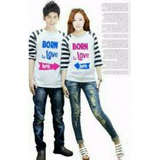 Diskon Legionshop Kaos Pasangan Baju Couple Baju Trend Kaos Couple Born In Love White Legionshop Dki Jakarta