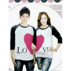legiONshop-Kaos pasangan  baju couple  baju trend  kaos couple LOVE VALENTINE white black