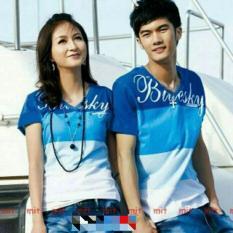 Spesifikasi Legionshop Kaos Pasangan T Shirt Couple Bluesky Benhur Yang Bagus