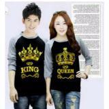 Ongkos Kirim Legionshop Kaos Pasangan T Shirt Couple King Queen Black Misty Di Dki Jakarta
