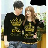 Legionshop Kaos Pasangan T Shirt Couple King Queen Lengan Panjang Black Legionshop Diskon