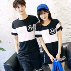 Toko Legionshop Kaos Pasangan T Shirt Couple M Saku Black White Di Dki Jakarta