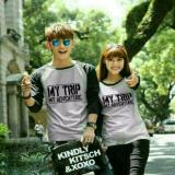 Review Legionshop Kaos Pasangan T Shirt Couple My Trip My Adventure Grey Black Di Indonesia