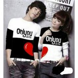 Jual Legionshop Kaos Pasangan T Shirt Couple Only You Black White Murah