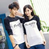 Perbandingan Harga Legionshop Kaos Pasangan T Shirt Couple Pusple Black White Legionshop Di Dki Jakarta