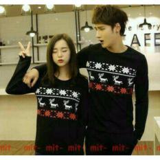 Harga Legionshop Kaos Pasangan T Shirt Couple Rusa Salju Black Yang Murah