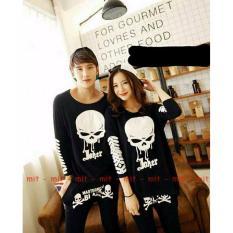 Promo Legionshop Kaos Pasangan T Shirt Couple Skull Joker Black