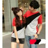 Beli Legionshop Kaos Pasangan T Shirt Couple Slash Red Black Grey Kredit