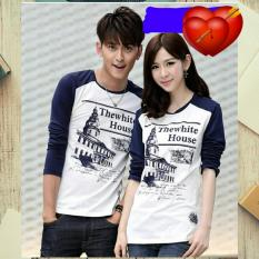 Harga Legionshop Kaos Pasangan T Shirt Couple The White House Navy White Legionshop Ori