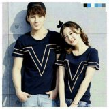 Review Terbaik Legionshop Kaos Pasangan T Shirt Couple Victory Navy