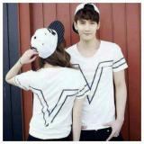 Promo Legionshop Kaos Pasangan T Shirt Couple Victory White Akhir Tahun
