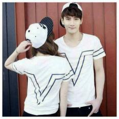 Promo Legionshop Kaos Pasangan T Shirt Couple Victory White Murah