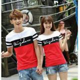 Harga Legionshop Kaos Pasangan T Shirt Couple Wisdom Lengan Pendek White Red Baru Murah