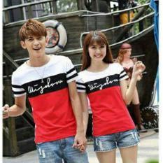 Harga Legionshop Kaos Pasangan T Shirt Couple Wisdom Lengan Pendek White Red Baru
