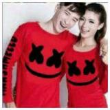 Jual Legionshop Kaos Pasangan T Shirt Couple Xx Mellow Red Termurah
