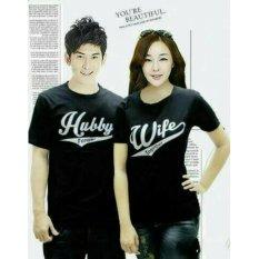 Spesifikasi Legionshop Kaos Pasangan T Shirt Couple Hubby Wife Black Online