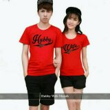 Promo Legionshop Kaos Pasangan T Shirt Couple Hubby Wife Red