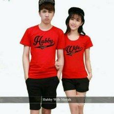 Legionshop Kaos Pasangan T Shirt Couple Hubby Wife Red Terbaru