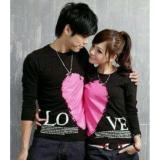 Jual Legionshop Kaos Pasangan T Shirt Couple Love Valentine Black Termurah