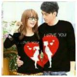 Harga Legionshop Kaos Pasangan T Shirt Couple Moon Love Black Legionshop Baru