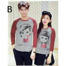 Harga Legionshop Kaos Pasangan T Shirt Couple Soul Mate Red Yang Murah