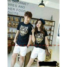 Tips Beli Legionshop Kaos Pasangan T Shirt Couple Tiger Paris Black Yang Bagus