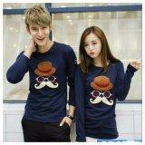 Spesifikasi Legionshop Kaos Pasangan T Shirt Couple Topi Brown Navy Paling Bagus