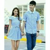 Spek Legionshop Kemeja Dress Pasangan Couple Dress Gadizha Blue Sky