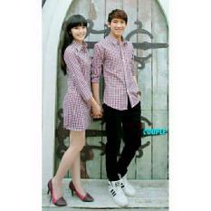 Jual Beli Legionshop Kemeja Dress Pasangan Couple Dress Joko Iriana Red Blue Di Indonesia