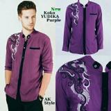 Toko Legionshop Kemeja Muslim Pria Koko Yudikh Bordir Purple Online