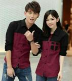 Toko Legionshop Kemeja Pasangan Avery Maroon Couple Shirt Avery Maroon Terlengkap Dki Jakarta