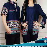 Jual Legionshop Kemeja Pasangan Baju Couple Baju Pasangan Murah Baju Batik Couple Cika Navy Indonesia Murah