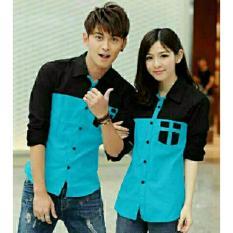 legiONshop - Kemeja Pasangan  baju pasangan  atasan murah  baju pria dan wanita-AVERY-turkis black