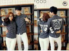 Toko Jual Legionshop Kemeja Pasangan Cheap Trick Couple Shirt Cheap Trick