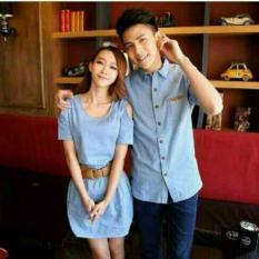 Toko Legionshop Kemeja Pasangan Couple Dress Denim Free Gasper Light Blue Murah Dki Jakarta