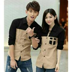Harga Legionshop Kemeja Pasangan Couple Shirt Avery Mocha Black Yg Bagus