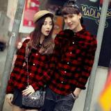 Diskon Legionshop Kemeja Pasangan Couple Shirt Marley Red Black