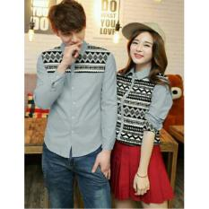 Review Legionshop Kemeja Pasangan Couple Shirt Batik Line Grey Legionshop