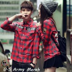 Harga Legionshop Kemeja Pasangan Couple Shirt U S Army Red Grey Online Dki Jakarta