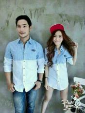 legiONshop - Kemeja Pasangan Riovi Salur / Couple Shirt Riovi Stripes