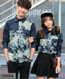 Top 10 Legionshop Kemeja Pasangan Star Navy Couple Shirt Star Navy Online
