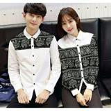Spesifikasi Legionshop Kemeja Pasangan Couple Shirt Akiuri White Online