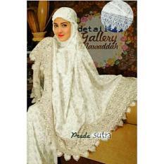 Harga Hemat Legionshop Mukena Dubailah Tas Cantik White